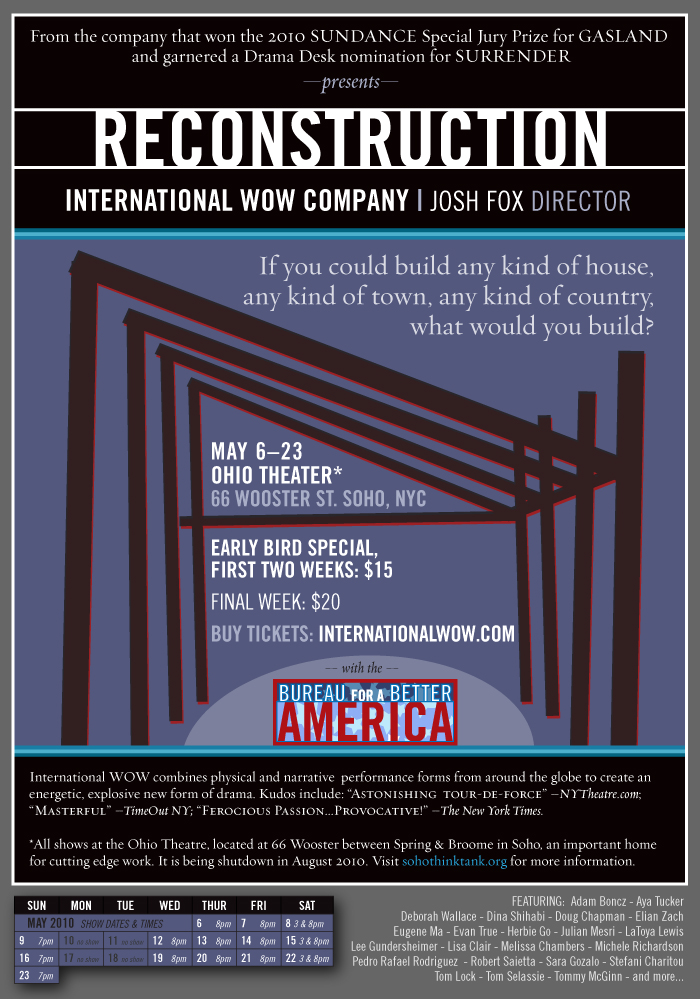 RECONSTRUCTION Click here to buy tickets to Reconstruction via smarttix.com